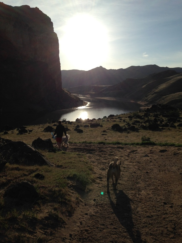 Echo Rock Hot Springs Owyhee Reservoir Trail Oregon