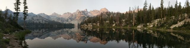 Alice Lake morning Sawtooth Mountains Backpacking