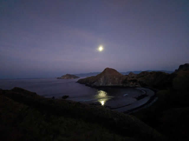 Pulau Padar, island, Komodo National Park, Indonesia, moon, Jupiter