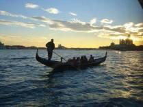 Gondola sunset in Venice