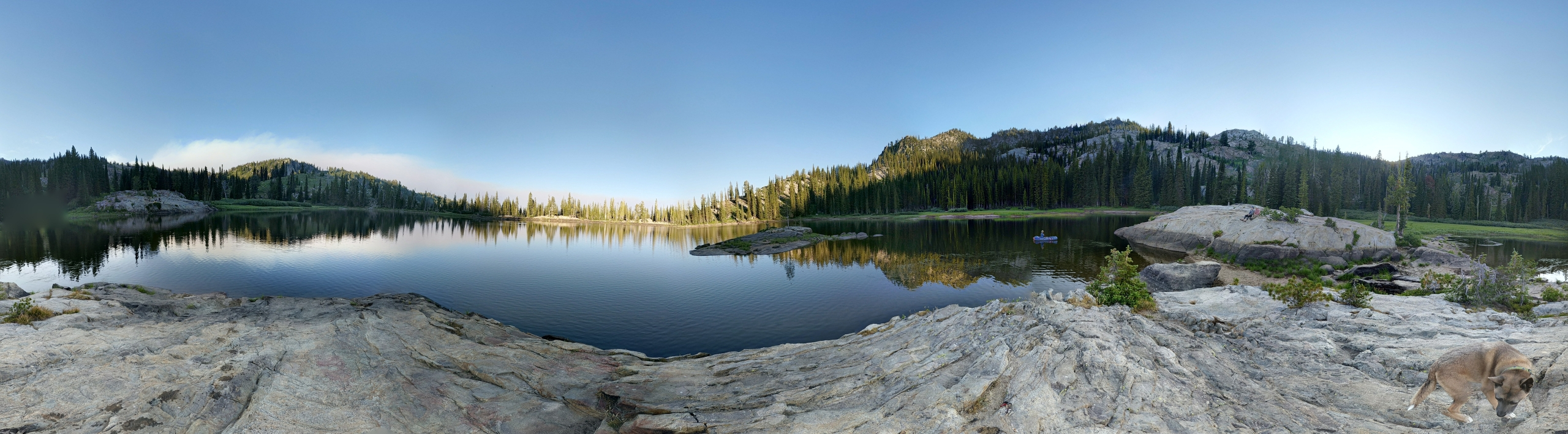 Blue Lake near Cascade Idaho at sunset