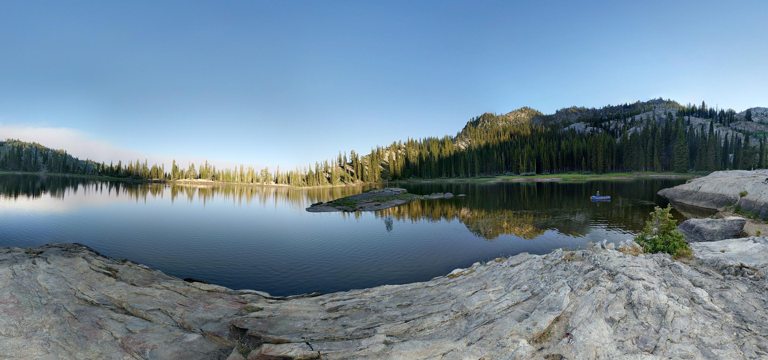 Blue Lake near Cascade Idaho at sunset